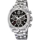 JAGUAR EXECUTIVE 運動計時手錶-黑/46mm J654/2
