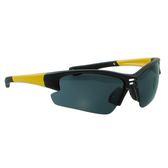 【福利品】流線包覆型運動太陽眼鏡-黑框灰鏡(0102)