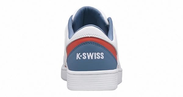 K-SWISS Ramli Court時尚運動鞋-男-白/藍/紅