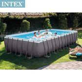 INTEX 長方型框架速搭大型游泳池-砂濾水泵(26361)