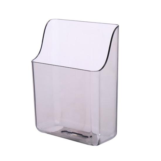 收納盒 手機架 遙控器收納架 瀝水架 展示架 充電支架 置物架 透明款 壁掛收納盒【T010】MY COLOR