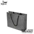 手提袋-編織袋(L)-黑銀-01C