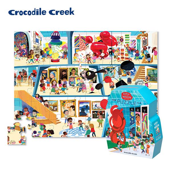 《美國Crocodile Creek》博物館造型盒學習拼圖-美術館(48片)