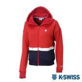K-SWISS Hooded Sweat Zip up休閒連帽外套-女-紅