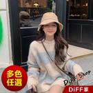 【DIFF】韓版慵懶寬鬆百搭毛衣女 針織...