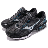Mizuno 慢跑鞋 Wave Creation 19 黑 藍 避震 反光 馬拉松跑步 男鞋 運動鞋【PUMP306】 J1GC1701-05