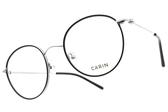 CARIN 光學眼鏡 LIM MORE C2 (黑-銀) 韓星秀智代言 簡約知性圓框款 # 金橘眼鏡