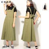 工裝 工作風 吊帶裙 後身蝴蝶結免運費 日本品牌【coen】