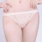 思薇爾-桔梗花戀系列M-XL蕾絲低腰三角內褲(粉柑色)