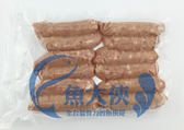 F2【魚大俠】FH161原味虱目魚香腸(10-12條/600g/包)
