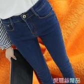 加絨牛仔褲加絨牛仔褲女冬季加厚保暖褲韓版顯瘦高腰彈力大碼小腳鉛筆長褲子 春季上新