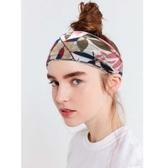純棉新款印花運動頭帶發帶吸汗健身男士女士情侶寬邊頭巾