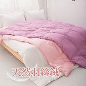 雙人(6*7尺)天然水鳥羽絲絨被2.3kg-漾彩白/粉/紫/藍『3色任選』台灣製※限單件超取