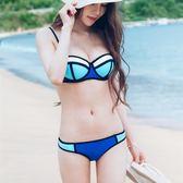 【618】好康鉅惠泳衣女小胸鋼托聚攏橡膠色比基尼溫泉泳裝
