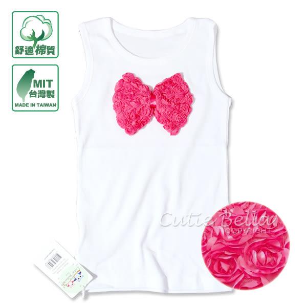 Cutie Bella無袖上衣/背心Bow-Fuchsia