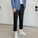 韓國彈性九分褲 太空棉材質 上寬下窄小腳褲【PAB175】正韓