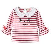 女童秋裝T恤新品上市新款中小童條紋上衣女寶寶笑臉印花打底衫兒童t恤