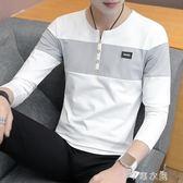 秋季男士長袖T恤純棉上衣服韓版潮流男裝打底衫學生個性秋衣 千惠衣屋