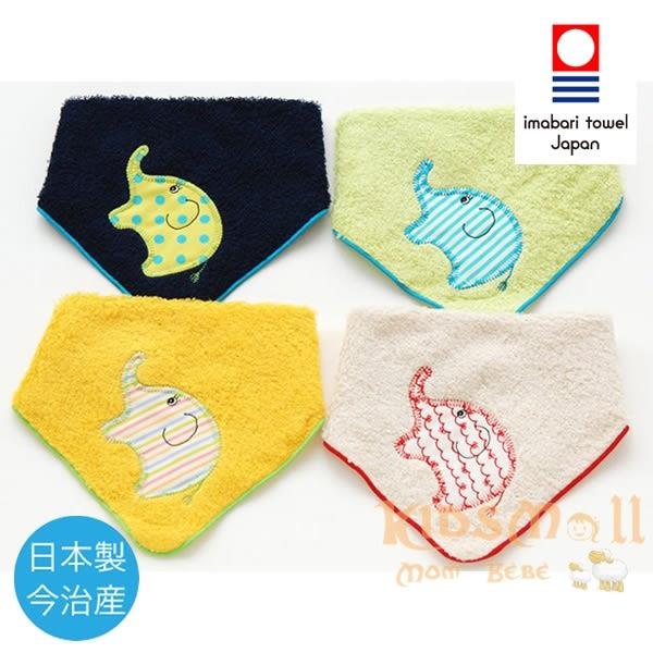 日本製Crescendo今治毛巾,兩用手帕領巾-大象