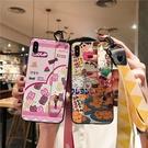 創意彩繪SamSung Note 10 Plus手機套 S8/S9/N8/N9三星保護套 S10/S10e/S10 Plus保護殼 腕帶三星手機殼