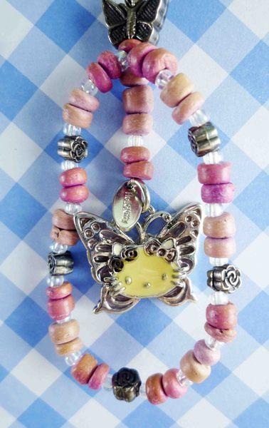 【震撼精品百貨】Hello Kitty 凱蒂貓~KITTY手機提帶-蝴蝶