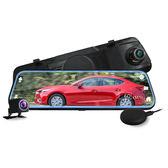 CARSCAM行車王 GS9300 GPS測速全螢幕觸控雙1080P後視鏡行車記錄器-加贈32G記憶卡