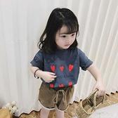 女童寶寶純棉T恤2020新款兒童裝清新上衣夏裝短袖t草莓印花洋氣衫 幸福第一站