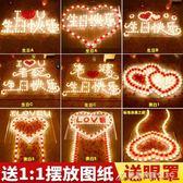 蠟燭電子蠟燭浪漫生日愛心形錶白求愛求婚創意佈置用品道具LED燈蠟燭 酷斯特數位3c