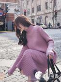 長款毛衣-中長款毛衣女2018新款秋冬韓版寬鬆過膝打底針織連衣裙加厚毛衣裙-奇幻樂園