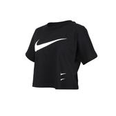 NIKE 女短袖T恤(純棉 短版 上衣 大勾 路跑 休閒 ≡體院≡ CJ3765
