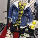 男童韓版秋季外套兒童牛仔衣夾克服連帽衫寶寶秋裝上衣開衫 道禾生活館