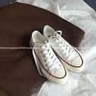 帆布鞋 許劉芒 韓國街拍萬年經典款百搭復古1970s復刻白色低幫帆布鞋女 萬聖節狂歡