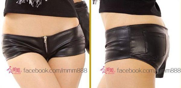 衣美姬♥韓版熱賣款 酒吧派對 小姐必備低腰皮短褲 性感火辣 緊身短褲熱褲