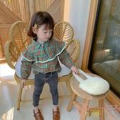 韓版兒童襯衣寶寶時尚格子襯衫長袖上衣【聚可愛】
