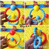 寶寶磨牙棒手搖鈴鐺軟硅膠嬰兒牙膠玩具3-12個月可水煮      瑪奇哈朵