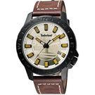 Timberland Waterville 探險家時尚腕錶-金x咖啡/45mm TBL.14647JSB/07