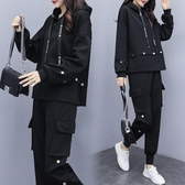 女裝秋裝2020新款韓版胖mm兩件套女運動裝寬鬆顯瘦時尚女神范女裝