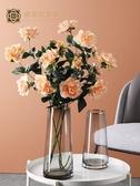 繡宮坊梔子花仿真花假花花瓶干花家居客廳餐桌裝飾品擺花花束擺件 不含花瓶 LX 熱賣單品