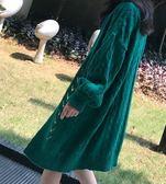 EASON SHOP(GU3385)麻花長袖針織衫外套圓領長版毛衣開衫女上衣螺紋開衫長款寬鬆秋冬韓毛線衣素色
