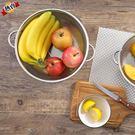瀝水籃 不銹鋼瀝水淘米器廚房洗菜盆家用圓形洗菜籃子漏盆洗菜籃WY