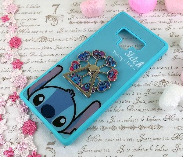 迪士尼摩天輪手機殼 三星 Galaxy Note 9 (6.4吋) 指環支架【正版】米奇 米妮 史迪奇 小熊維尼