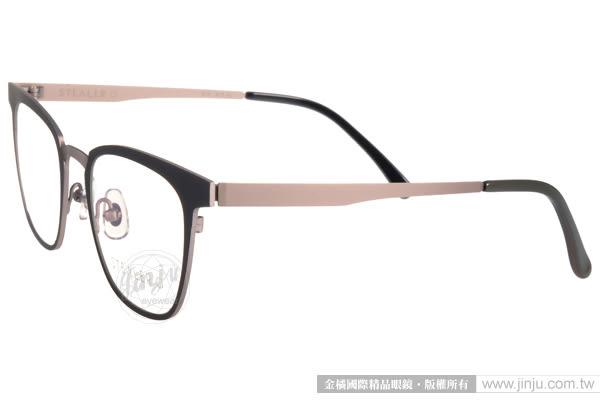 STEALER 光學眼鏡 FIN C10 (黑-銀) 簡約時尚百搭款 平光鏡框 # 金橘眼鏡