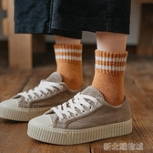 襪子女中筒襪ins潮秋冬保暖加厚加絨羊毛襪女士長筒百搭毛圈襪 新北購物城