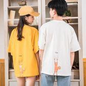 情侶裝新款韓版夏裝寬鬆t恤短袖學生班服百搭學院風春裝潮  居家物語
