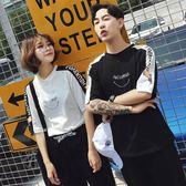 情侶裝2018夏裝新款韓版半袖夏季男女套裝 LQ4009『小美日記』