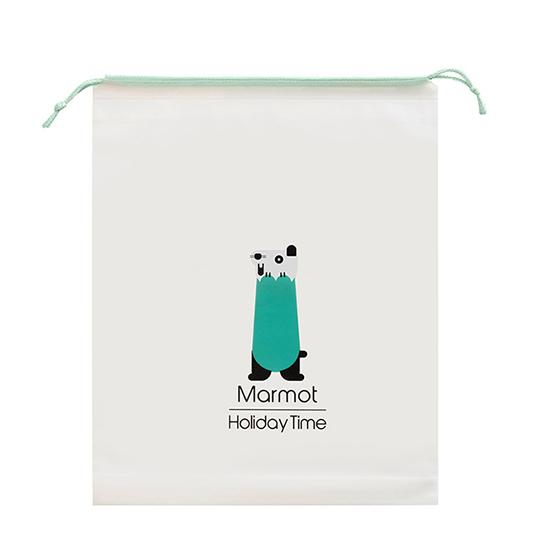收納袋 抽繩袋 旅行分裝 小 鞋袋 防水 玩具收納 禮物袋 磨砂袋 萌趣動物 收納束口袋【R034】MY COLOR