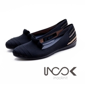 inooknit 躍動層迭平底鞋 女鞋-黑(另有灰白、紅與蜜桃粉)