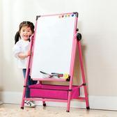 兒童畫板合金畫架磁性寫字板支架式可升降小黑板家用寶寶涂鴉白板第七公社
