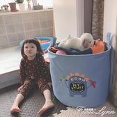 北歐兒童玩具收納筐布藝可摺疊寶寶臟衣服收納桶大容量卡通整理箱 范思蓮恩
