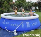 嬰兒大型家用寶寶兒童超大號水上樂園成人充氣夾網加厚泳池igo 童趣潮品